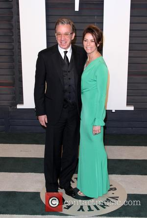 Tim Allen , wife Jane Hajduk - Vanity Fair Oscar Party 2016 held at the Wallis Annenberg Center for the...