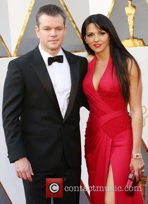 Matt Damon , Luciana Barroso - Celebrities attend 88th Annual Academy Awards at Hollywood & Highland Center in Hollywood. at...