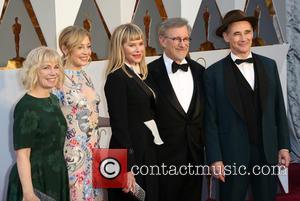 Claire Van Kampen, Juliet Rylance, Kate Capshaw, Steven Spielberg and Mark Rylance