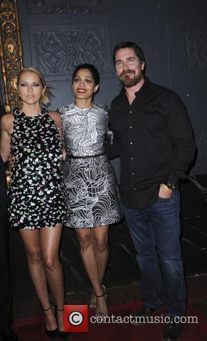 Teresa Palmer, Freida Pinto and Christian Bale