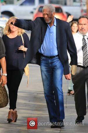 Morgan Freeman - Morgan Freeman arrives at the 'Jimmy Kimmel Live!' studios ahead of an appearance on the show at...