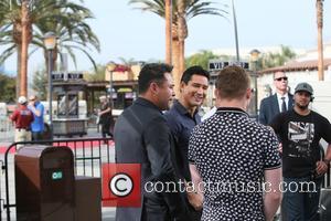 Mario Lopez, Oscar De La Hoya and Canelo Alvarez