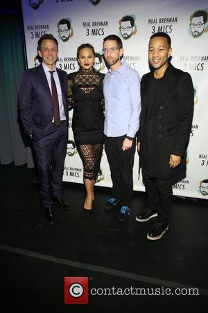 Seth Meyers, Chrissy Teigan, Neal Brennen and John Legend