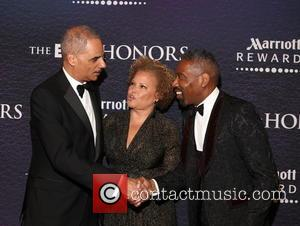 Eric Holder, Debra Lee and Louis Carr