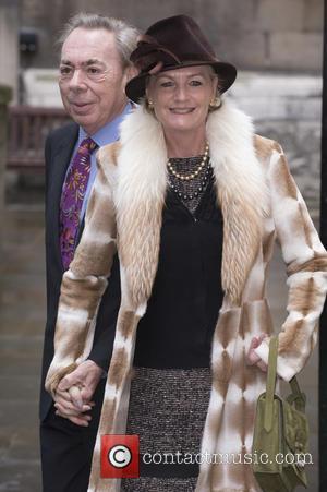 Andrew Lloyd Webber , Madeleine Gurdon - Celebrities attend Jerry Hall and Rupert Murdoch's wedding in St Bride's Church, Fleet...