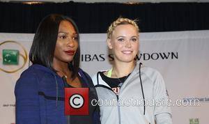 Serena Williams , Caroloine Wozniacki - BNP Paribas Showdown New York 2016 at Madison Square Garden on March 8 2016...