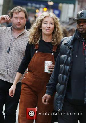 Emma Thompson - Emma Thompson and Chris Rock on the film set of the new movie 'Yen Din Ka Kissa'...