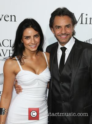 Aislinn Derbez and Eugenio Derbez