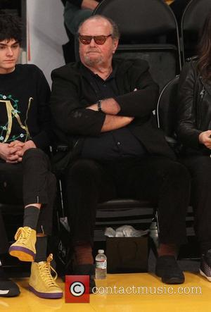 Jack Nicholson - Celebrities at the Los Angeles Lakers game. The Cleveland Cavaliers defeated the Los Angeles Lakers by the...