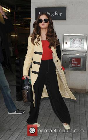 Selena Gomez - Selena Gomez arriving at the Radio 1 studios - London, United Kingdom - Friday 11th March 2016