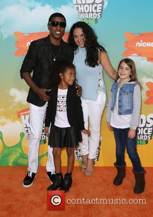 Nicole Pantenburg, Peyton Nicole Edmonds , Kenny 'Babyface' Edmonds - Nickelodeon Kids' Choice Awards 2016 - Arrivals at The Forum,...