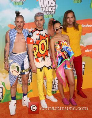 Cole Whittle, Joe Jonas, Jinjoo Lee and Jack Lawless Of Dnce