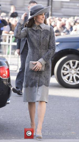 Duchess of Cambridge - Members of the Royal family attend a service at Westminster Abbey to celebrate Commonwealth day. -...