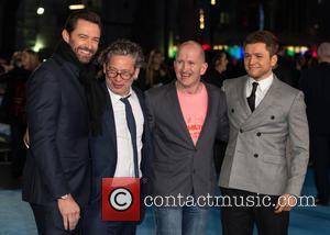 Eddie The Eagle, Hugh Jackman, Taron Egerton and Dexter Fletcher