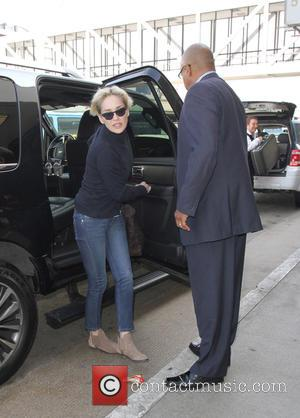 Sharon Stone - Sharon Stone arrives at Los Angeles International Airport (LAX) for a departing flight - Los Angeles, California,...