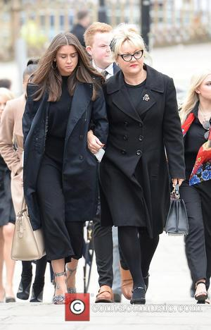 Brooke Vincent , Lisa George - The Funeral Of Tony Warren. Scriptwriter best know for creating Coronation Street is laid...