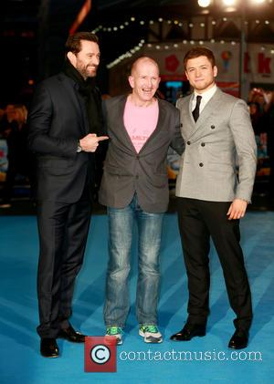 Hugh Jackman, Eddie Edwards and Taron Egerton