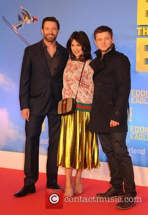 Iris Berben, Taron Egerton and Hugh Jackman