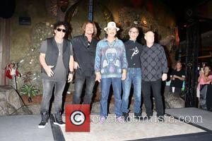 Neal Schon, Gregg Rolie, Michael Shrieve, Michael Carabello and Santana