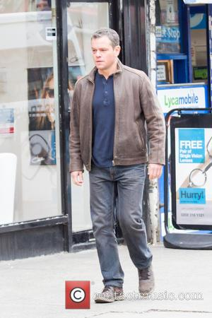 Matt Damon - Matt Damon is spotted filming scenes for 'Jason Bourne' on the Streets of Woolwich - London, United...