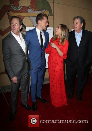 Marc Abraham, Tom Hiddleston, Elizabeth Olsen and Tom Bernard