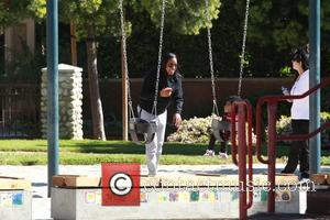 Kelly Rowland , Titan Jewell Witherspoon - Kelly Rowland was spotted with her son Titan having fun at Goldwater Park...