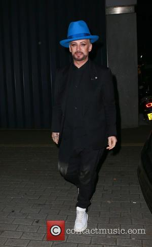 Boy George - Judges from BBC's The Voice arrive for a secret gig, London, Britain - London, United Kingdom -...