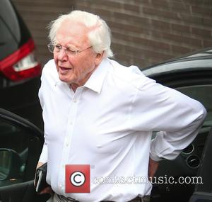 Sir David Attenborough - Sir David Attenborough arrives at the ITV studios - London, United Kingdom - Wednesday 23rd March...