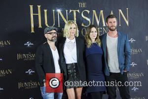 Cedric Nicolas-troyan, Charlize Theron, Emily Blunt and Chris Hemsworth