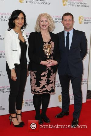 Georgina Campbell, Anne Morrison and Dermot O'leary