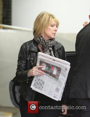 Ruth Langsford - Ruth Langsford make up free outside ITV Studios - London, United Kingdom - Wednesday 30th March 2016