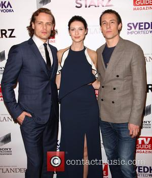Sam Heughan, Caitriona Balfe and Tobias Menzies