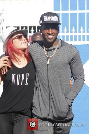 Sharna Burgess , Antonio Brown - Celebrities at the 'Dancing with the Stars' rehearsal studios - Los Angeles, California, United...