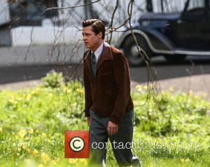 Brad Pitt - Brad Pitt films a scene for the movie 'Five Seconds of Silence' in London - Surrey, United...