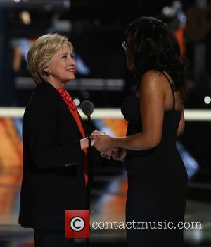 Hillary Clinton and Beverly Bond