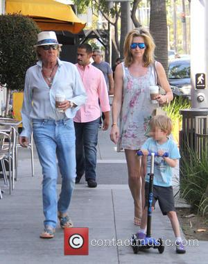 Penny Lancaster, Aiden Stewart and Rod Stewart