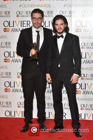 Kit Harington , Drew McOnie - The Olivier Awards held at the Royal Opera House - Press Room. - London,...