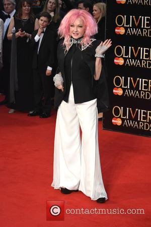 Cyndi Lauper - The Olivier Awards held at the Royal Opera House - Arrivals at Royal Opera House Covent Garden...