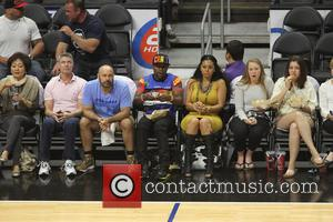Floyd Mayweather Jr. - Celebs out at the Clippers game. The Los Angeles Clippers defeated the Washington Wizards by the...
