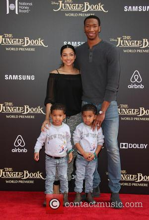 Wesley Johnson, Melissa Sanchez , Santana Johnson - World premiere of Walt Disney's 'The Jungle Book' held at El Capitan...