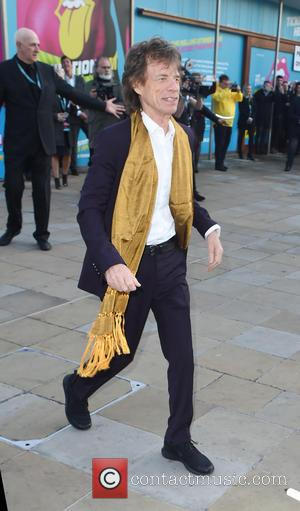 Mick Jagger - Rolling Stones seen arriving at there Exhibition at Saarchi Gallery. - London, United Kingdom - Monday 4th...