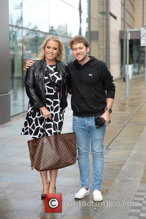 Amelia Lily , Steve Rushton - Amelia Lily and boyfriend Steve Rushton at the BBC Breakfast studios at MediaCityUK -...
