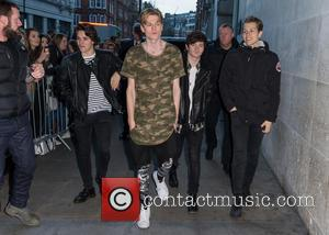 The Vamps, Connor Ball, Bradley Simpson, James McVey , Tristan Evans - The Vamps pictured arriving at the Radio 1...