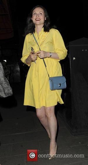 Sophie Ellis Bextor - Sophie Ellis Bextor and her mother Janet Ellis enjoy dinner at Mayfair Restaurant Sexy Fish celebrating...