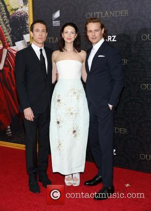 Tobias Menzies, Caitriona Balfe and Sam Heughan