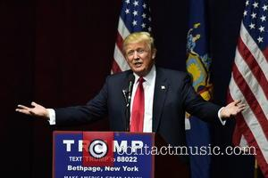 Donald Trump - Donald Trump attends his political rally for the presidency of the United States at Grumman studios in...