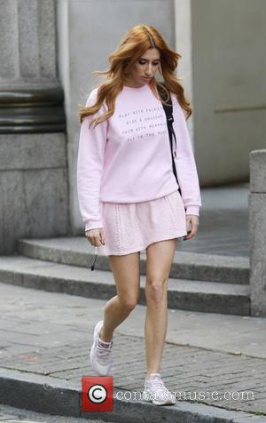 Stacey Solomon - Stacey Solomon seen wearing a bubble gum pink mini skirt and jumper as she leaves Whiteleys shopping...