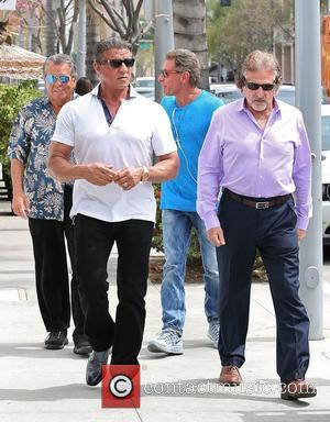 Sylvester Stallone . - Sylvester Stallone out and about in Beverly Hills with friends - Los Angeles, California, United States...