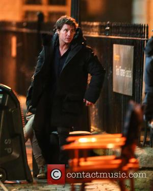 Tom Cruise - Tom Cruise and Annabelle Wallis film a scene for the movie 'The Mummy' in Oxford - Oxford,...