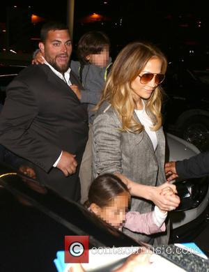 Jennifer Lopez, Maximilian David Muñiz and Emme Maribel Muñiz